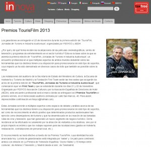 premios tourisfilm innova magazine