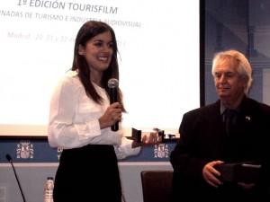 Adriana Ugarte y R. G. Loza,director de FESYCO