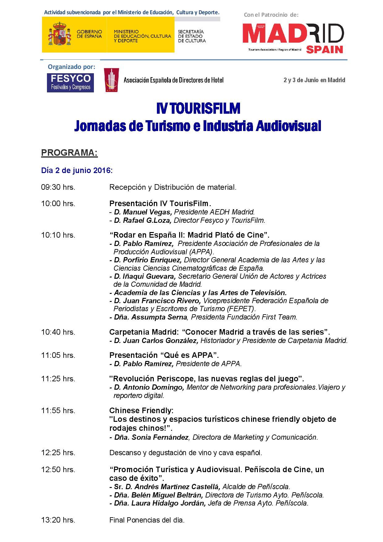Programa IV TOURISFILM1