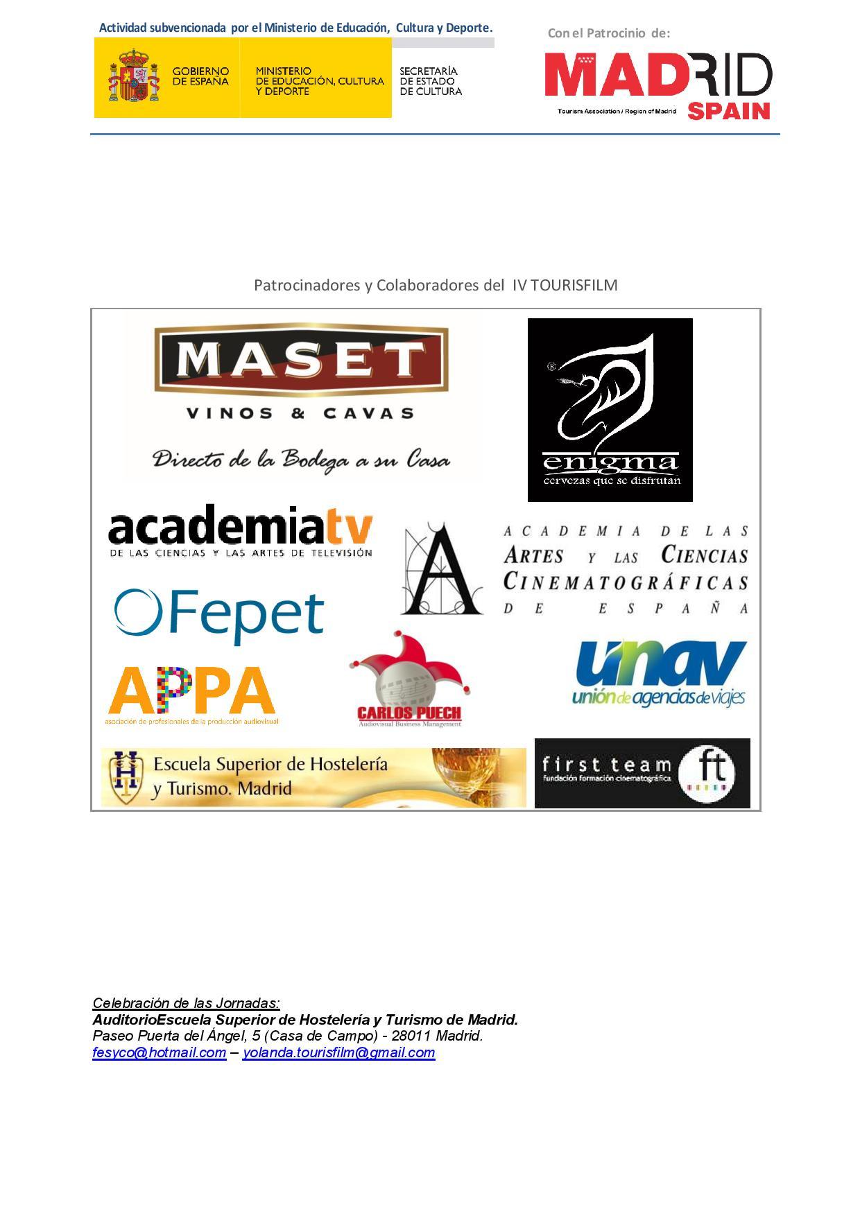 Programa IV TOURISFILM3