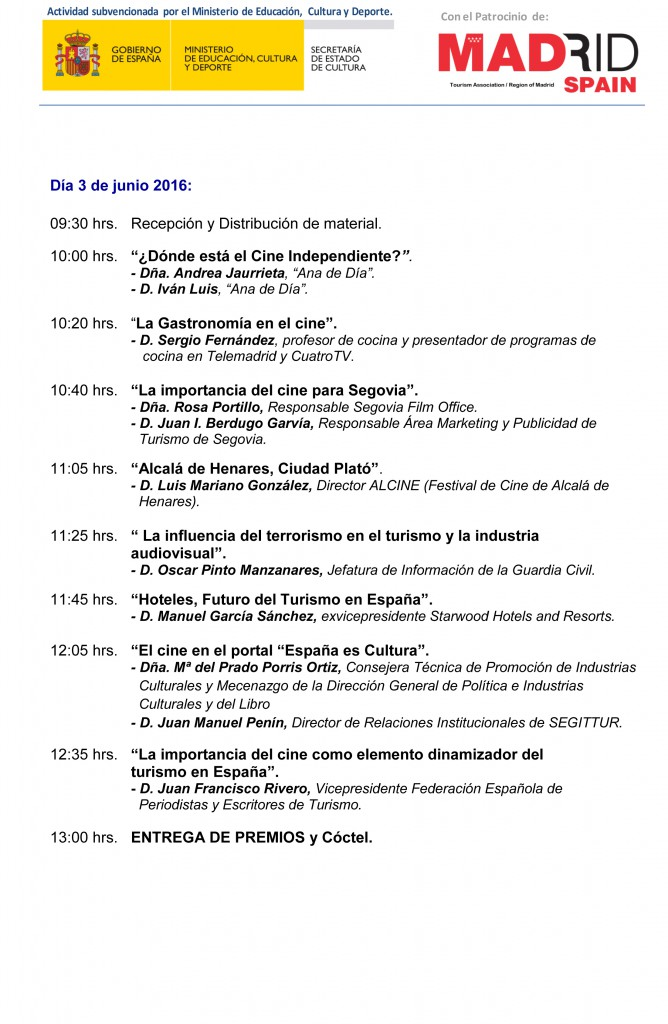 Programa IV TOURISFILM31mayo-2