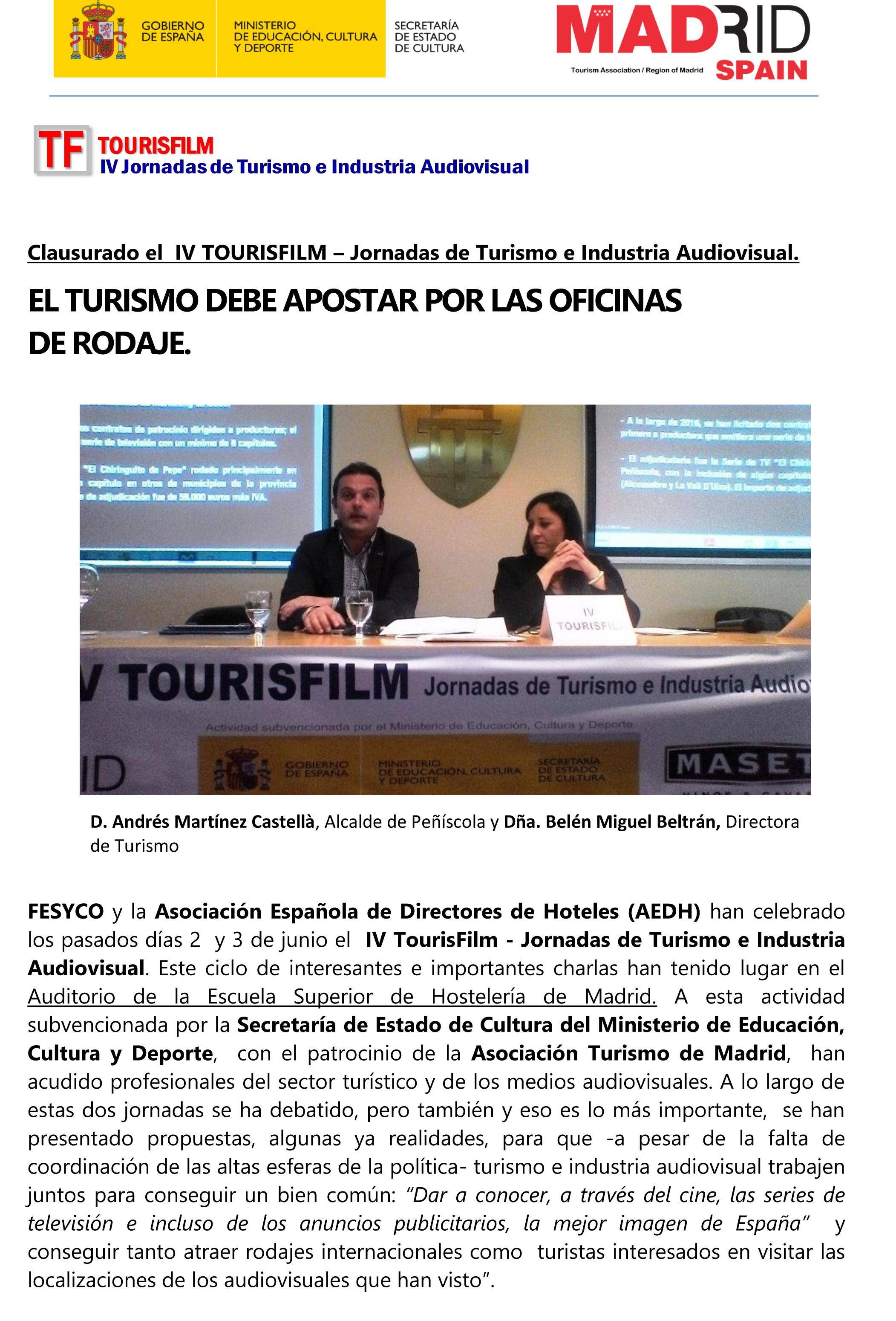 El Turismo debe apostar por las Oficinas de Rodaje-1