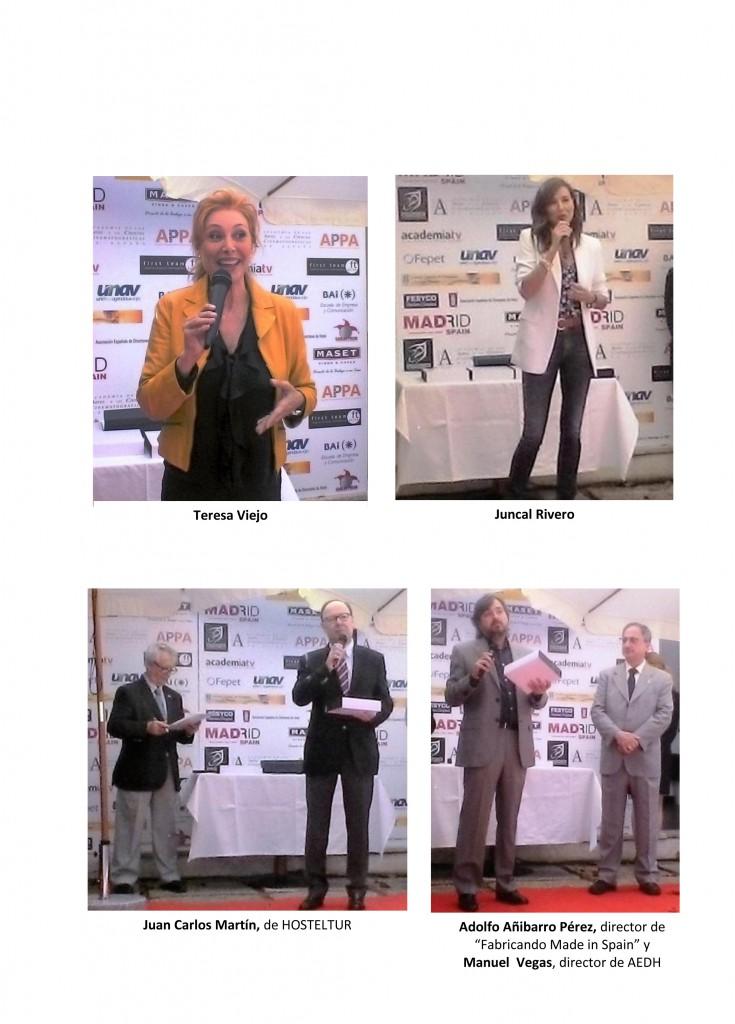 Entrega de los Premios TOURISFILM 2016-2