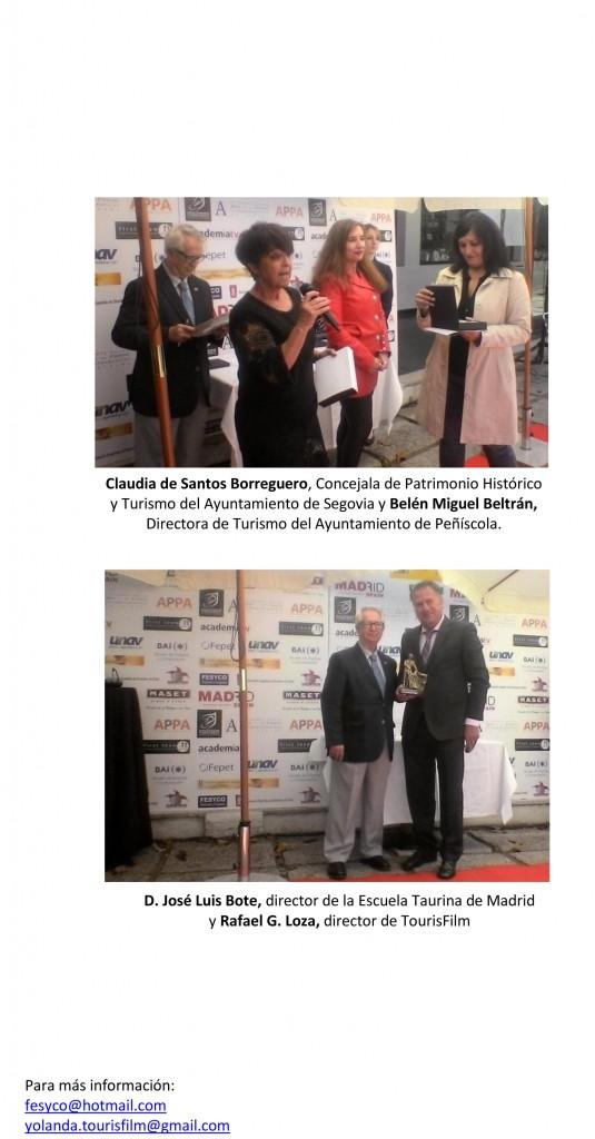 Entrega de los Premios TOURISFILM 2016-3